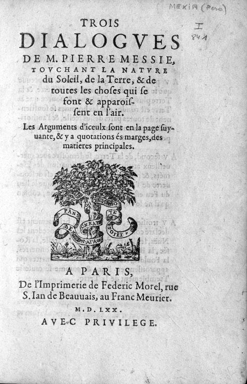 Trois dialogues de M. Pierre Messie