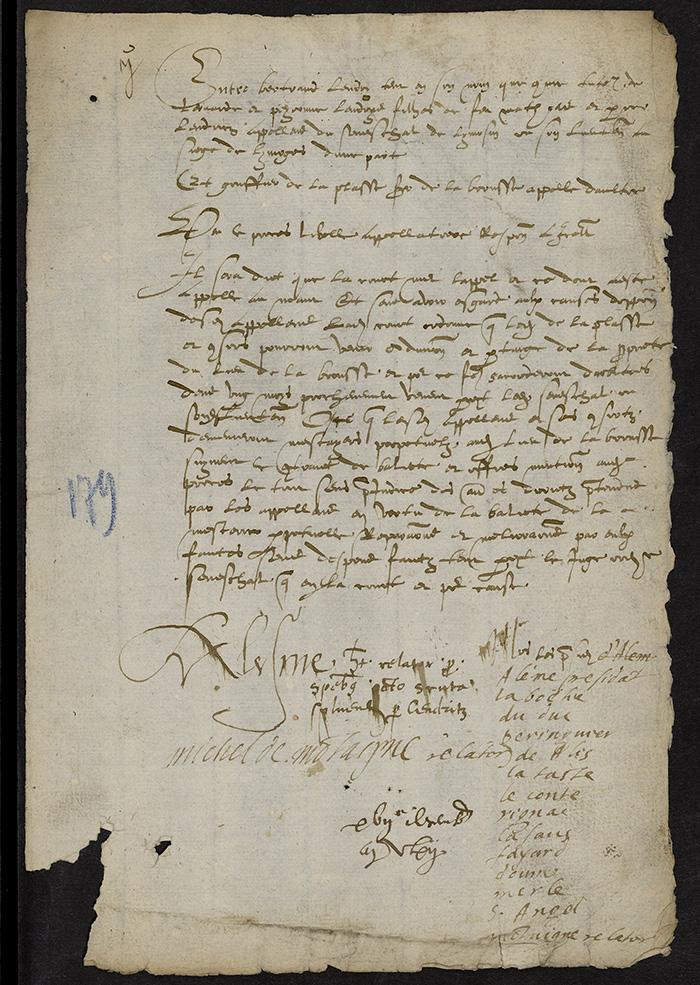 [Arrêt du Parlement de Bordeaux, 17 décembre 1562]