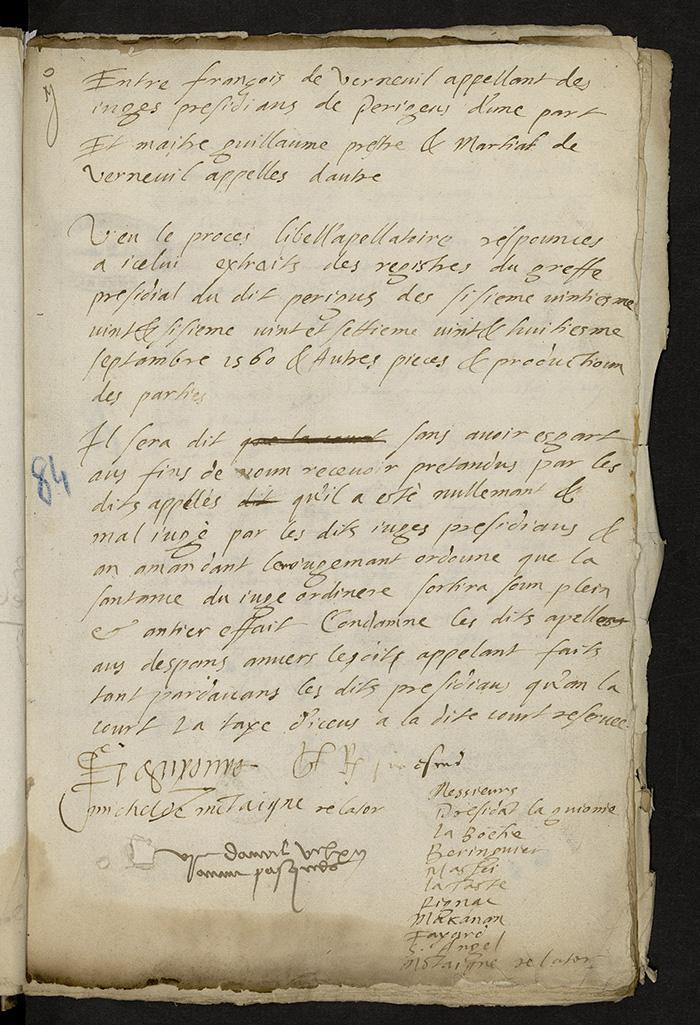 [Arrêt du Parlement de Bordeaux, 6 avril 1562 (1563 n. st.)]