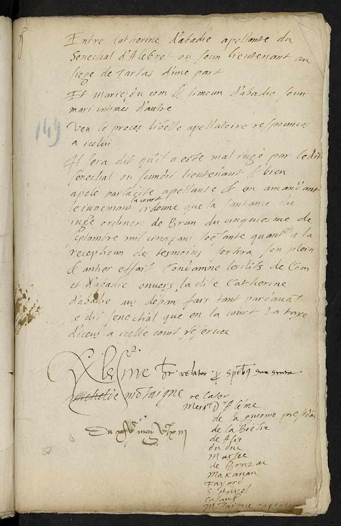 [Arrêt du Parlement de Bordeaux, 15 mai 1563]