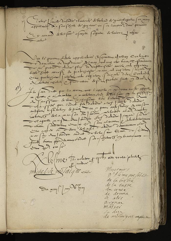 [Arrêt du Parlement de Bordeaux, 14 juin 1563]