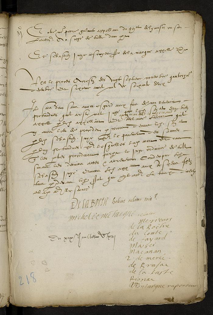 [Arrêt du Parlement de Bordeaux, 19 juillet 1563]