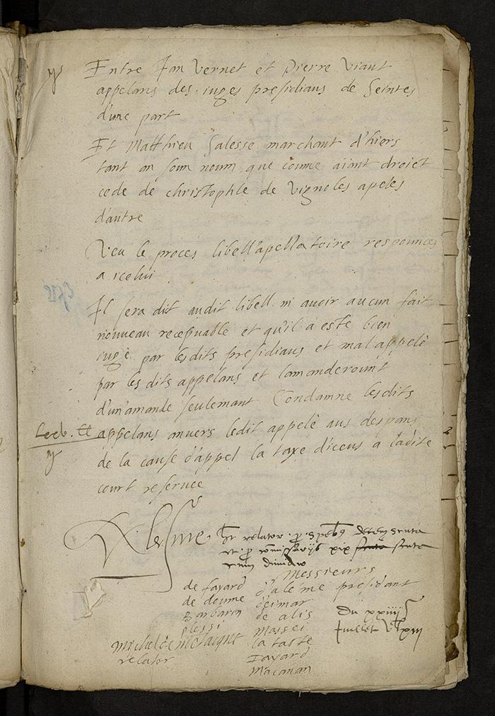 [Arrêt du Parlement de Bordeaux, 24 juillet 1563]
