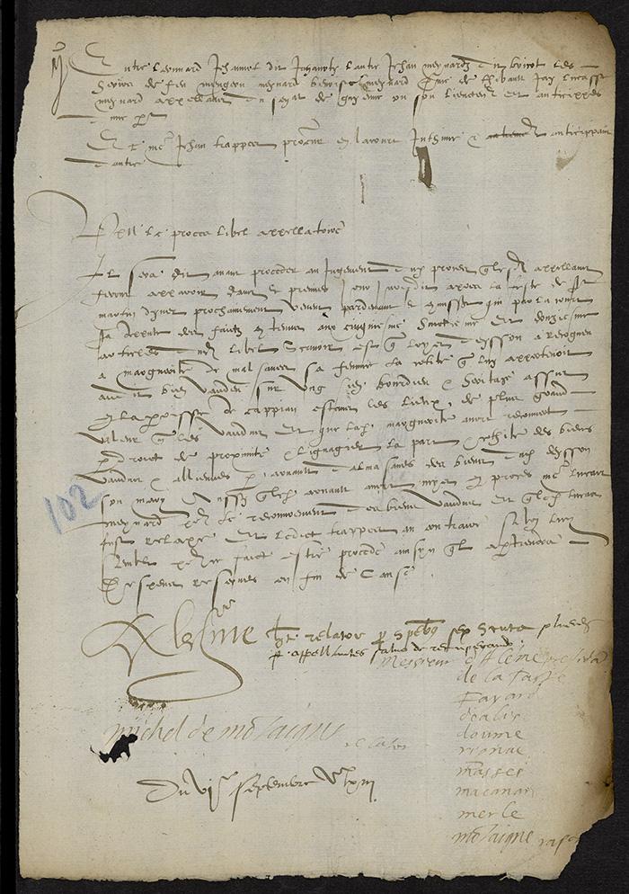 [Arrêt du Parlement de Bordeaux, 6 septembre 1563]