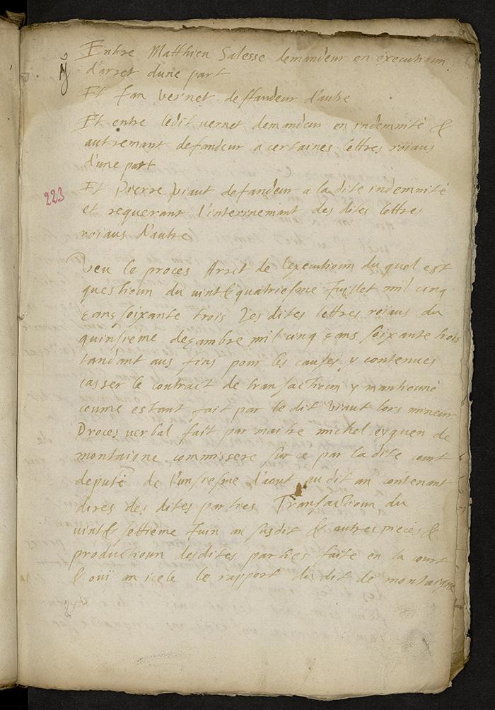 [Arrêt du Parlement de Bordeaux, 23 décembre 1563]
