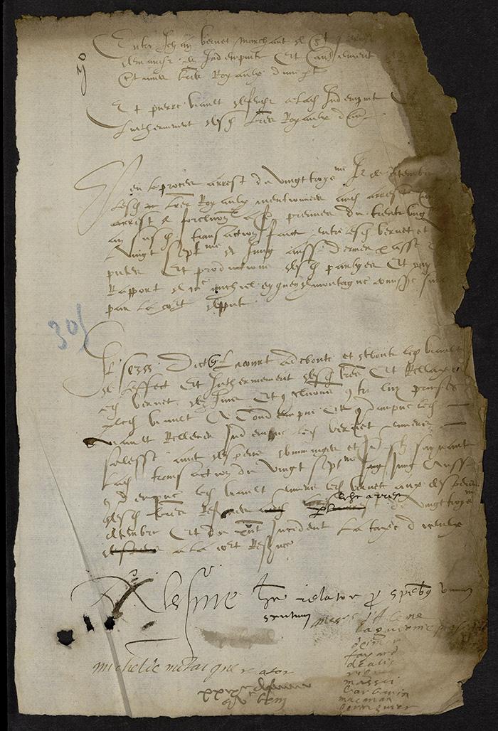 [Arrêt du Parlement de Bordeaux, 29 février 1563 (1564 n. st.)]