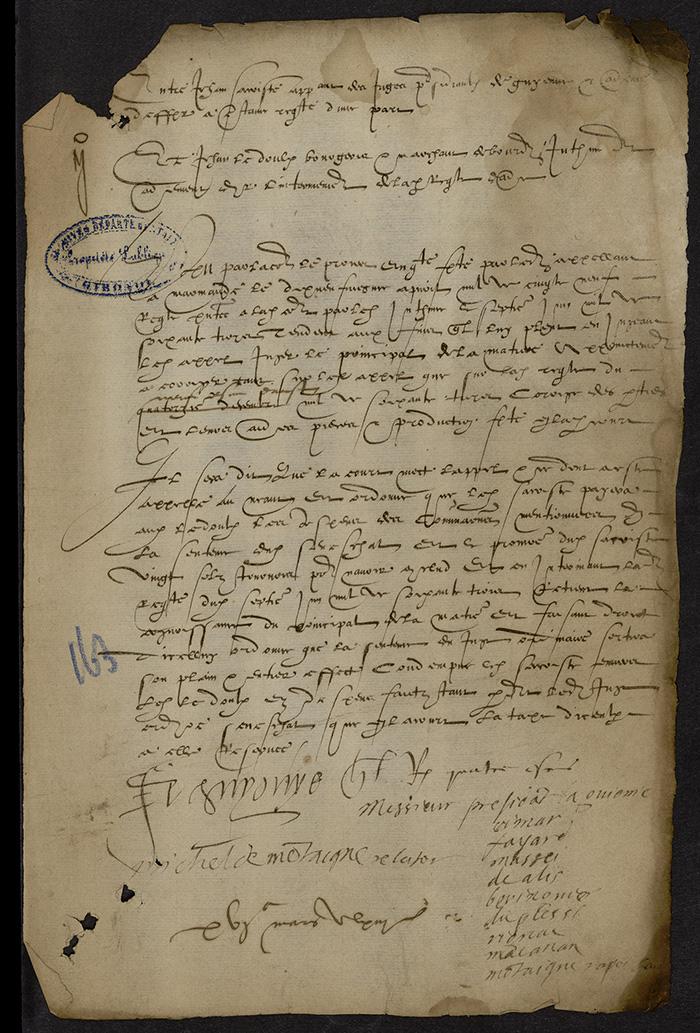 [Arrêt du Parlement de Bordeaux, 16 mars 1563 (1564 n. st.)]