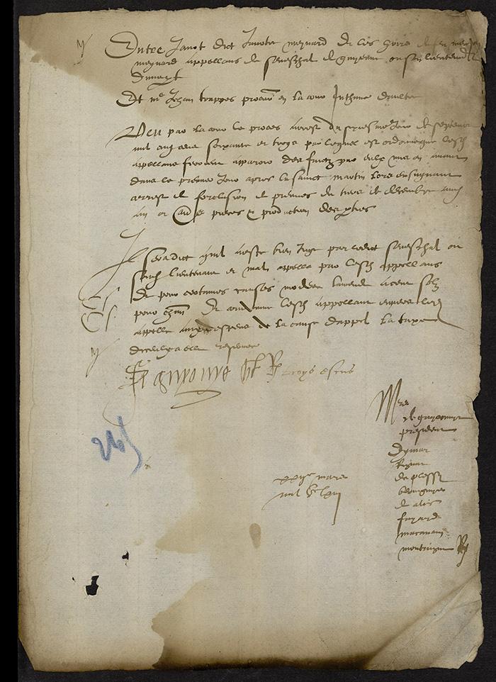 [Arrêt du Parlement de Bordeaux, 22 mars 1563 (1564 n. st.)]