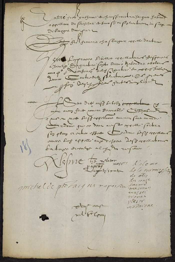 [Arrêt du Parlement de Bordeaux, 18 août 1564]