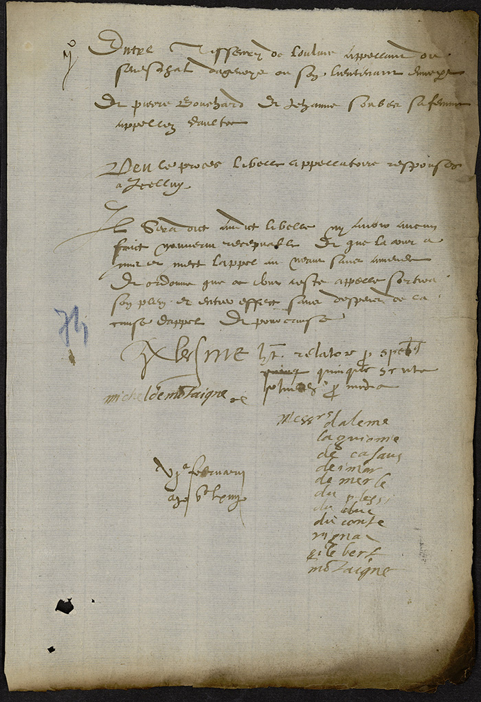 [Arrêt du Parlement de Bordeaux, 6 février 1564 (1565 n. st.)]