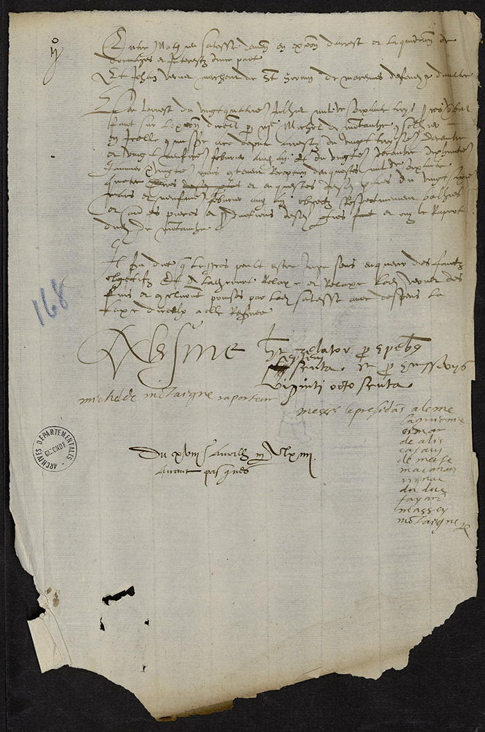 [Arrêt du Parlement de Bordeaux, 18 avril 1564 (1565 n. st.)]
