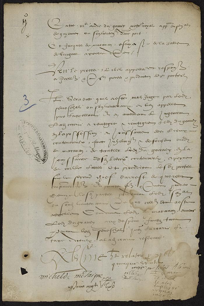 [Arrêt du Parlement de Bordeaux,1er août 1565]