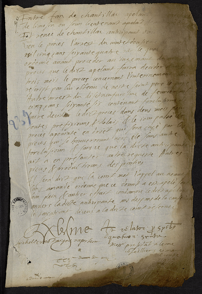 [Arrêt du Parlement de Bordeaux, 22 mai 1566]