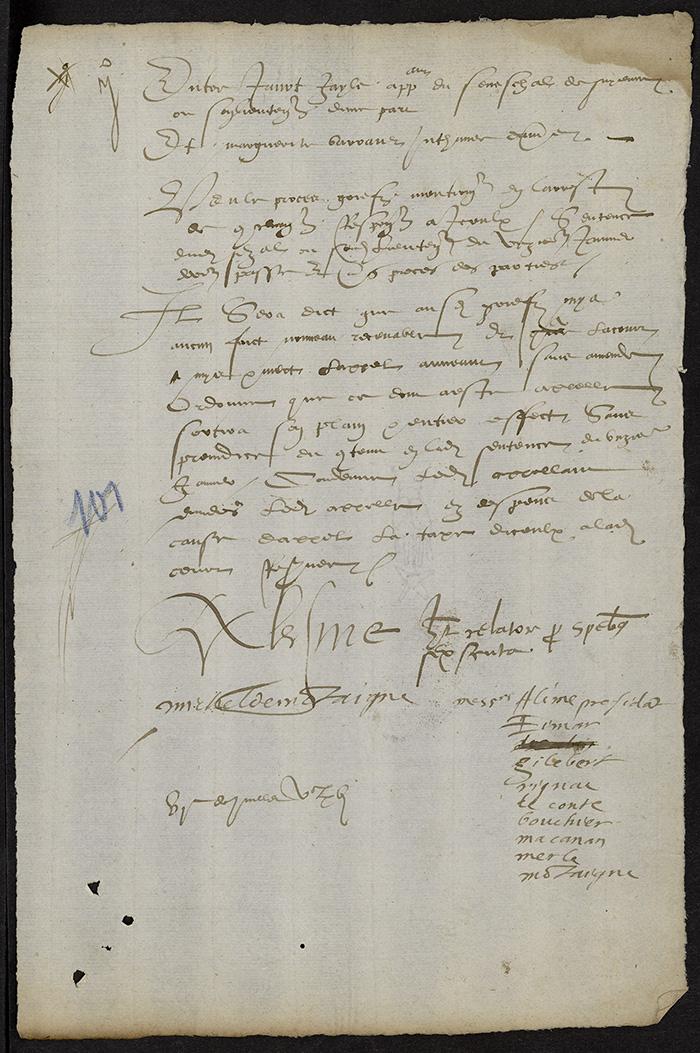 [Arrêt du Parlement de Bordeaux, 6 juillet 1566]