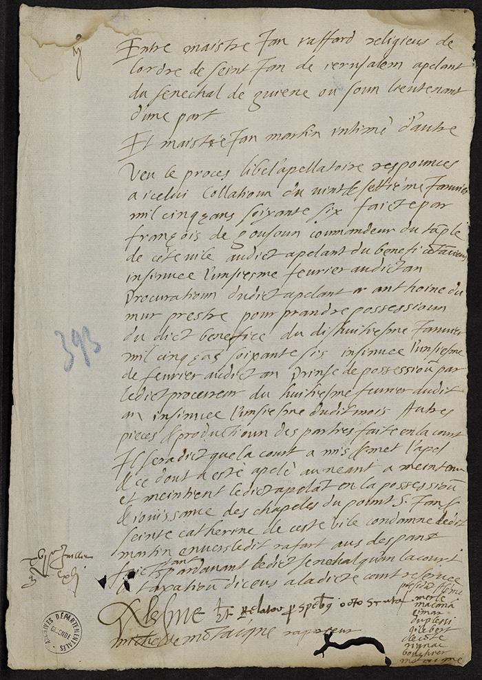 [Arrêt du Parlement de Bordeaux, 16 juillet 1566]