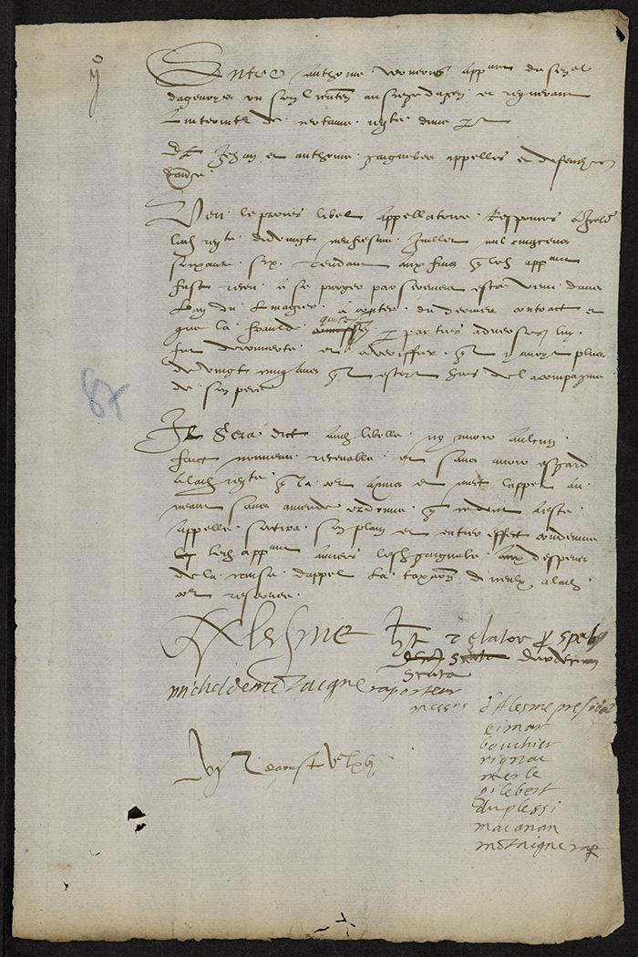 [Arrêt du Parlement de Bordeaux, 6 août 1566]