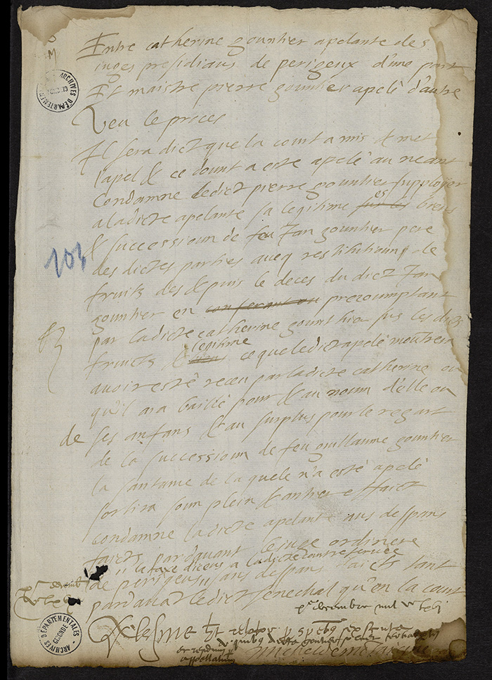 [Arrêt du Parlement de Bordeaux, 10 décembre 1566]