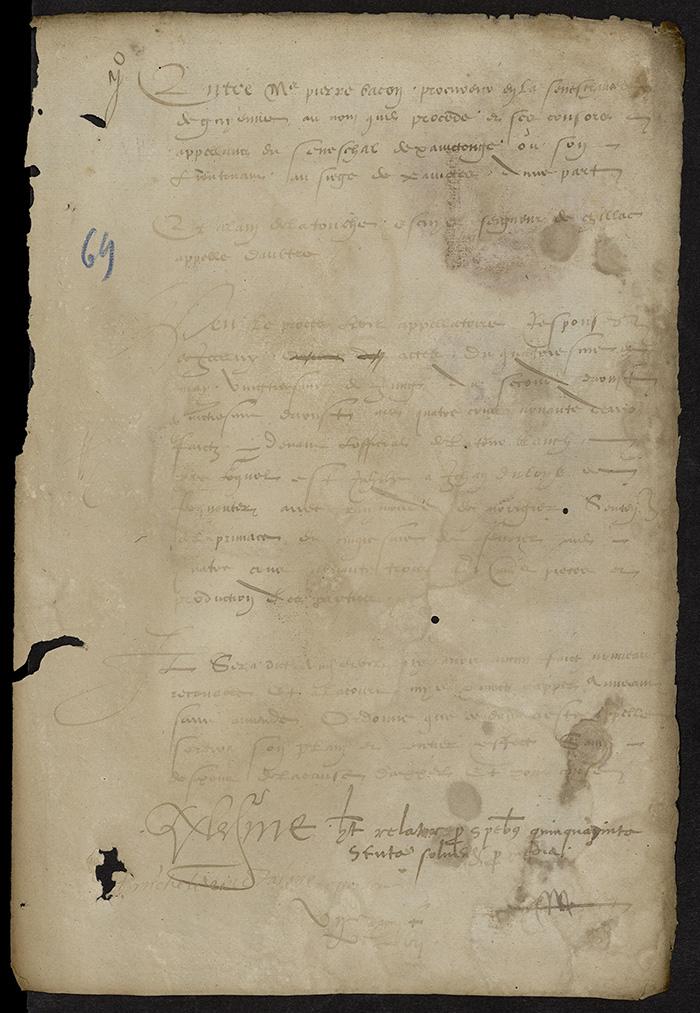[Arrêt du Parlement de Bordeaux, 7 août 1567]